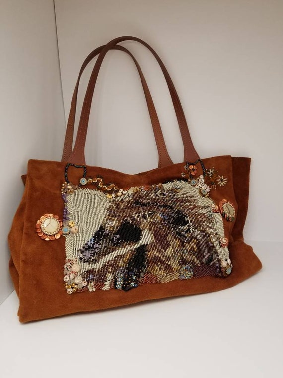 Spirit pony shoulder bag Native American inspired Rita Caldwell