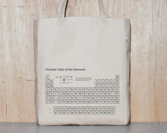 Chemistry Canvas Tote Bag, Funny Bag for School, Humorous Cotton Shopping Bag, Best Birthday Gift for Students, Long Strap Book Bag