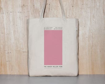 Pink Canvas tote bag, School bag, Eco-friendly Bag, Shopping bag, Graphic Design, Gift for her, Birthday Gift, 1day1bag