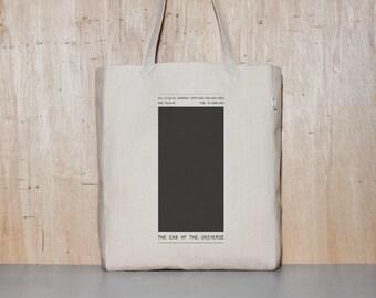Black Canvas tote bag, School bag, Eco-friendly Bag, Shopping bag, Graphic Design, Gift for Him, Birthday Gift, 1day1bag