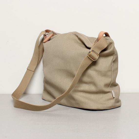 4ef2edb3150 Khaki Shoulder Bag Zip Bag Tote Sling Bag Diapers bag   Etsy