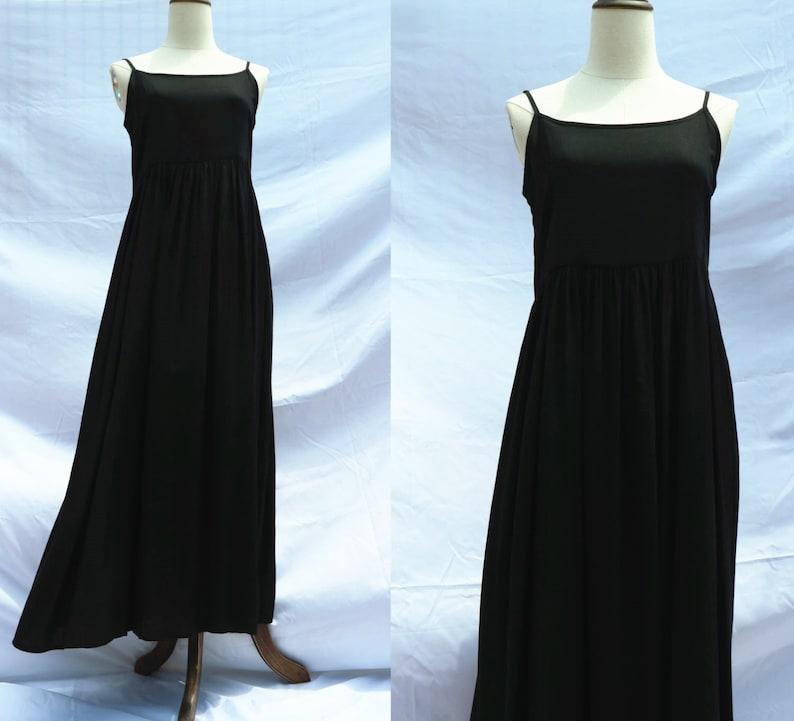 0da7a36cd214e 24 color Linen cotton black dress slip long dress sleeveless summer dress  linen clothing for women handmade dress sundress
