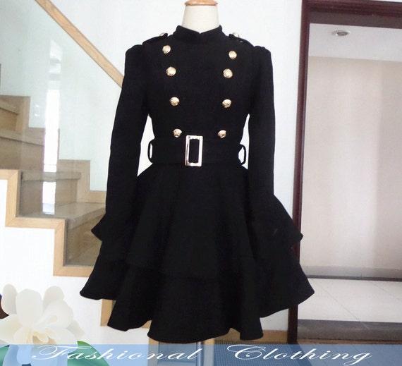 Items similar to black coat wool coat winter coat spring autumn coat warm coat women clothing women coat long coat jacket outerwear dress on Etsy