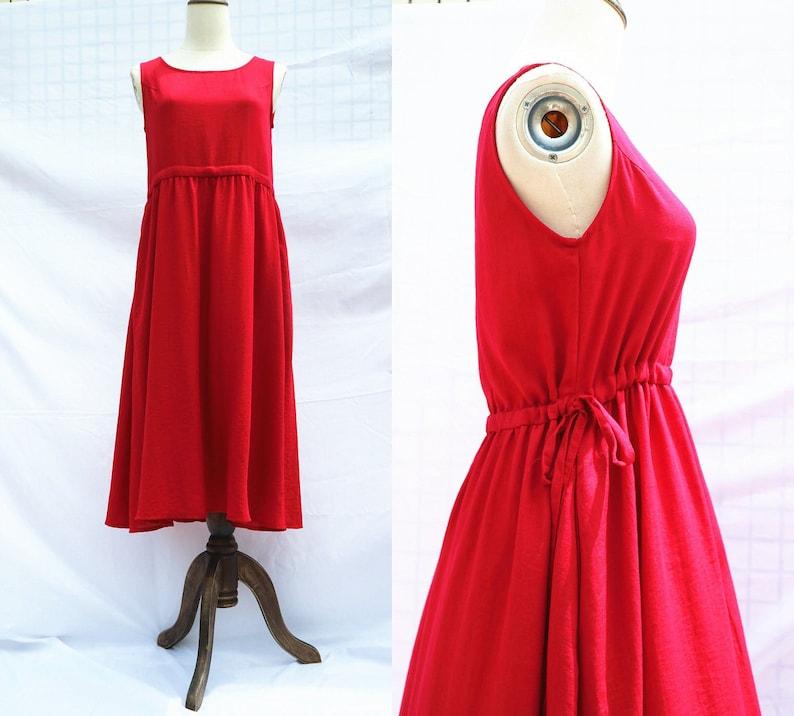 c1f8da8aa6e70 37 color Linen red dress sleeveless summer dress long dress linen clothing  for women handmade dress sundress linen dress for women