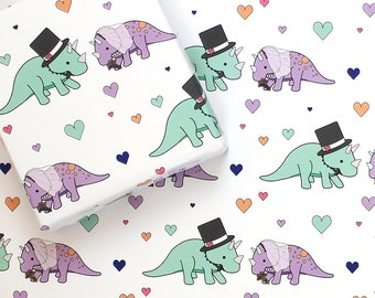 dinosaur wrapping paper party animal stegosaurus gift wrap etsy
