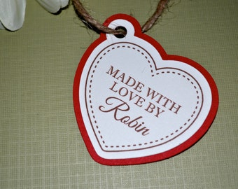 Custom Heart Gift Tags