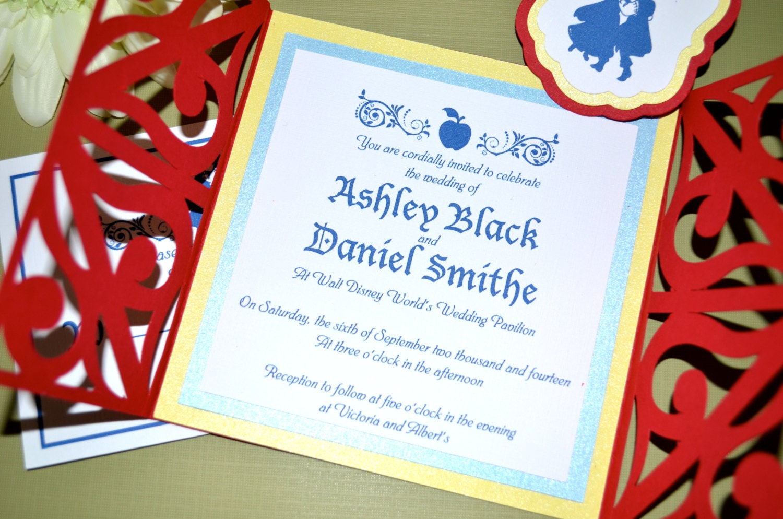 Fairy Tale Wedding Invitations - Snow White, Gate Fold