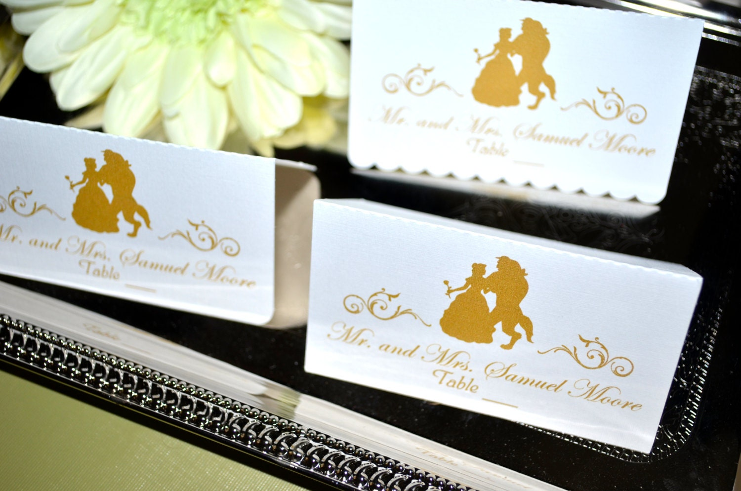 Fairy Tale Wedding Collection - Beauty and the Beast Place Cards
