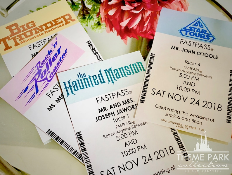 Theme Park Collection  Fastpass Place Cards image 0