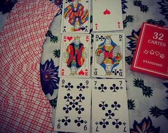 Playing card reading