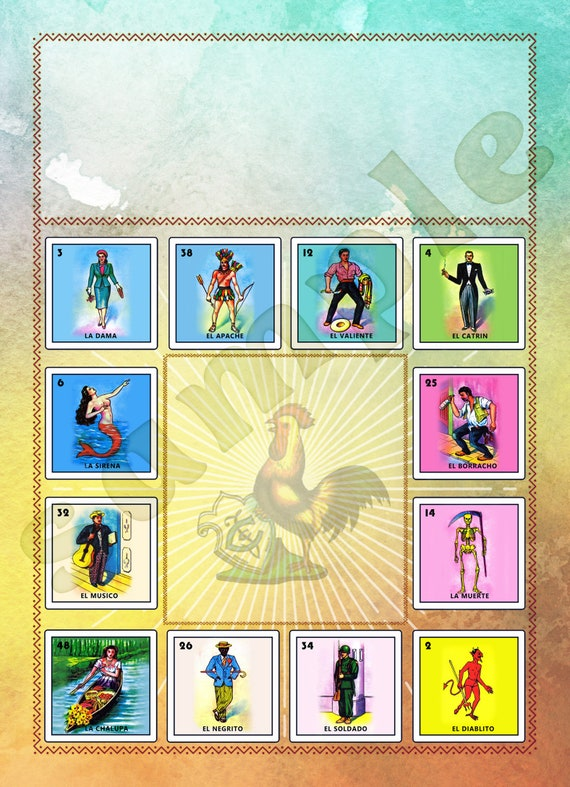 photo about Free Printable Mexican Loteria Cards named Mexican Loteria, Invite or Flyer Editable JPG 5\
