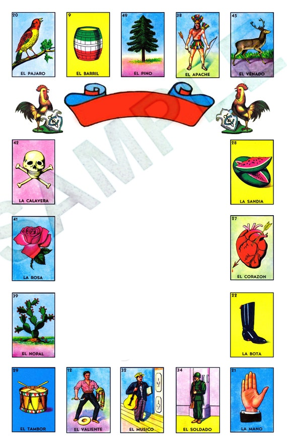 Any Occasion Loteria Master Blank Template 5x7 Etsy