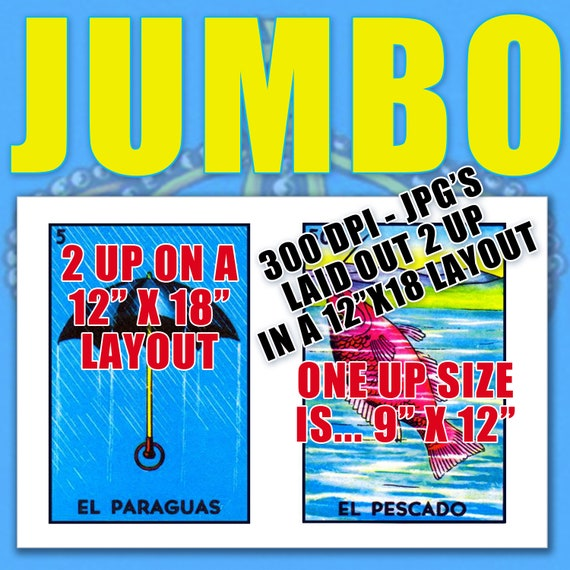 photo relating to Free Printable Loteria Cards named Jumbo Measurement (9x12) Mexican Loteria Card Pictures (27 Independent