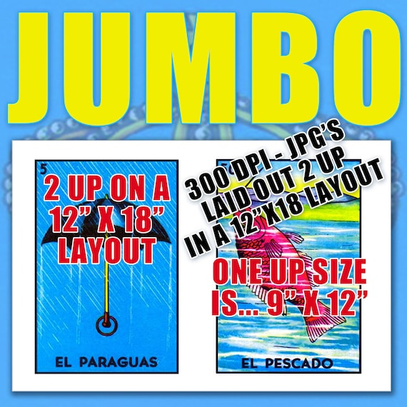 graphic regarding Free Printable Loteria Cards referred to as Jumbo Dimension (9x12) Mexican Loteria Card Illustrations or photos (27 Independent
