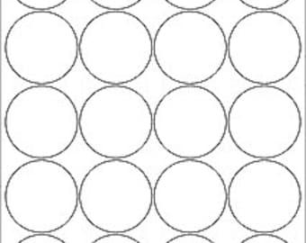 Blank Circle Labels, Plain White Circle Stickers, Kraft Circle Stickers, Round Labels, 5 pages of Labels, 2 inch Circle Labels