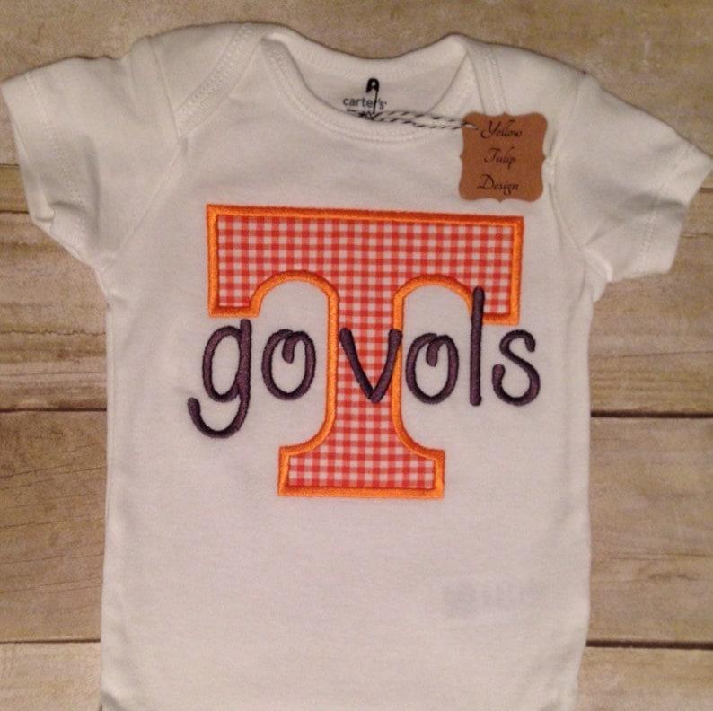 Baby Boy Tennessee Bib Burp Cloth Tennessee Vol Power T Personalized Bodysuit
