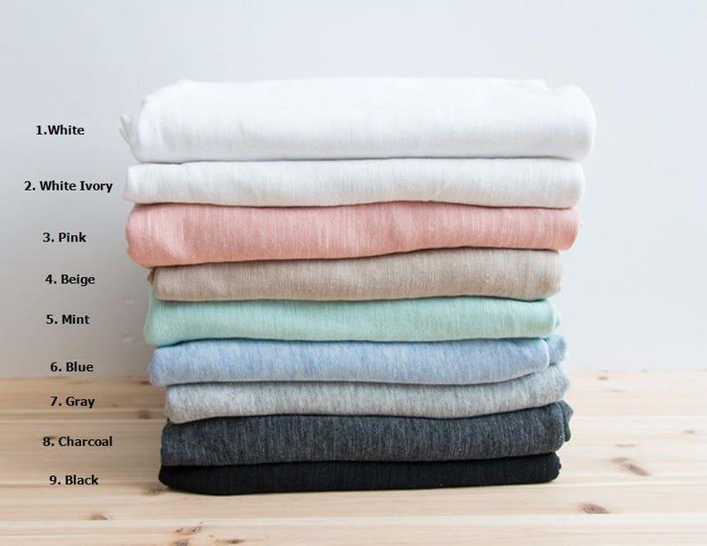 9c648b421a6 Slub Solid Cotton Knit Fabric Slub Texture Fabric by Yard 9 | Etsy