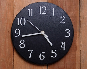 Modern Round Slate Clock