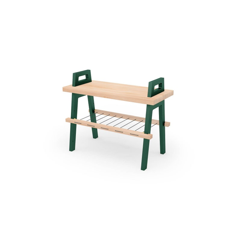 25 Entryway Hallway Storage Bench In Birch With Shoe Rack