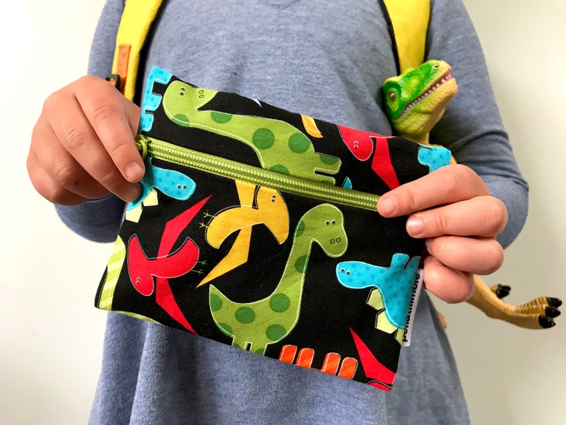 Zippered Pouch Dinosaur Snack Bag Food Safe Eco-Friendly image 0