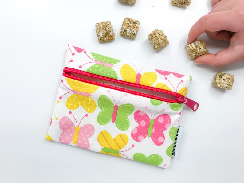 Zippered Pouch Butterfly Snack Bag Food Safe Eco-Friendly image 0