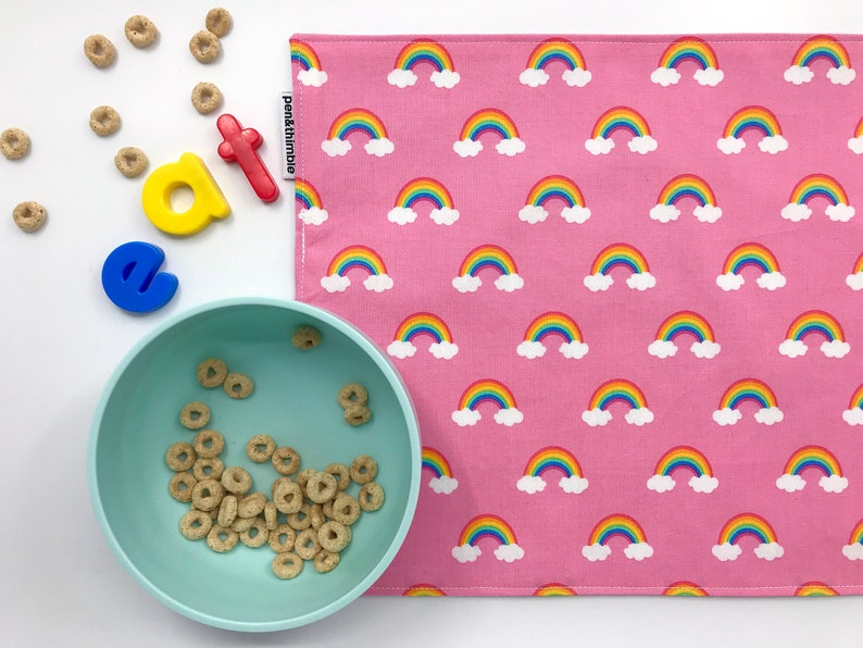 Kid's Fabric Placemat Cotton and Food-Safe Waterproof image 0