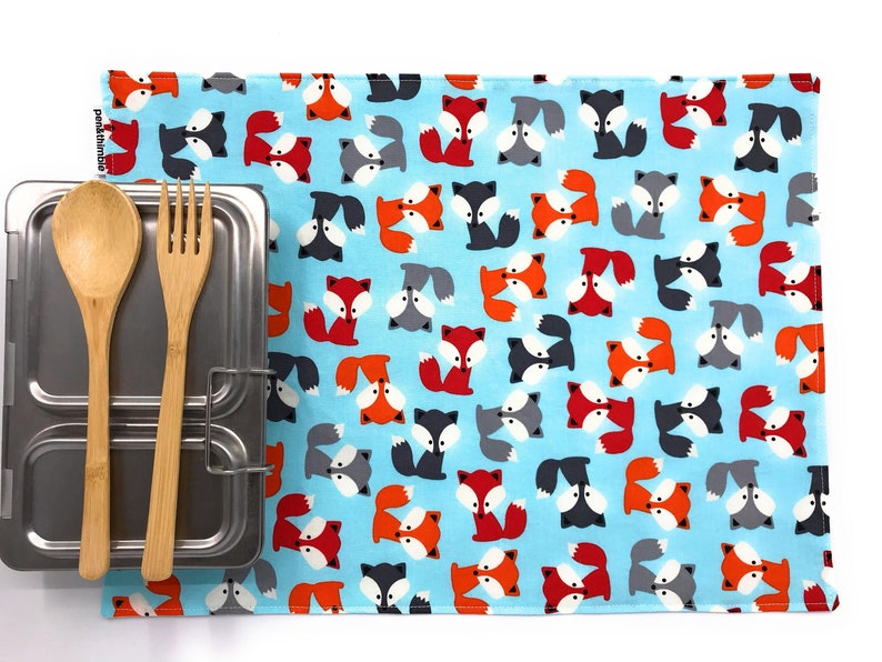 Montessori Placemat Kids Lunch Placemat Fox Theme Snack image 0