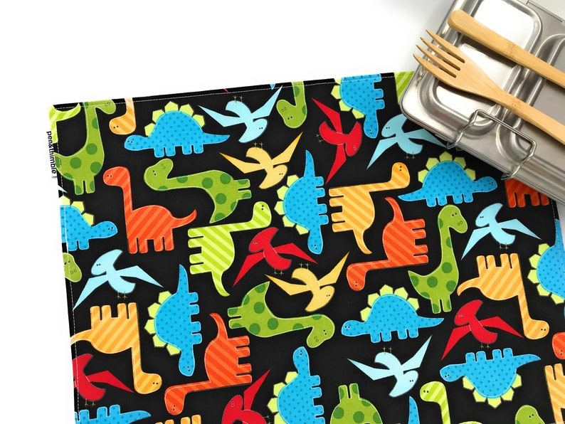Dinosaur Placemat Primary Colors Unisex Gift Under 20 For image 0