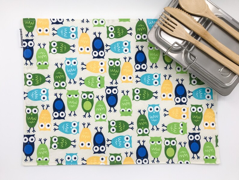 Owl Placemat For Kids Montessori Lunch Mat Gift Under 20 image 0