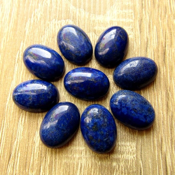 4  pcs blue lapis natural stone cabochons size 18x13mm