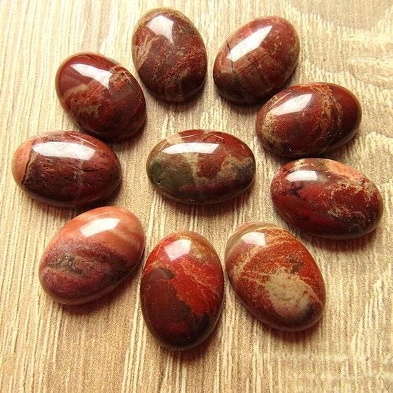Brown Red Jasper Oval Cabochon