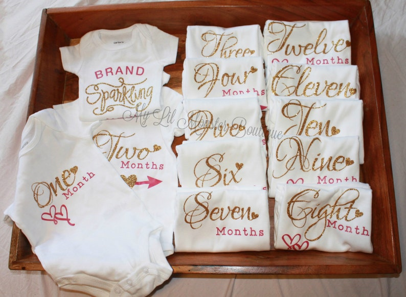 1c61c7d0d7d Monthly onesies  onesie set  coming home outfit  Bodysuit