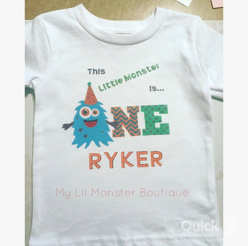 a835468c This little monster is turning one birthday shirt/ monster | Etsy