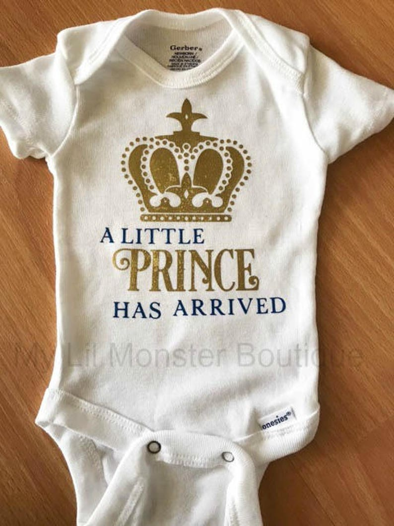 5b5a89175 A Little Prince Has Arrived coming home outfit/ newborn boy/   Etsy