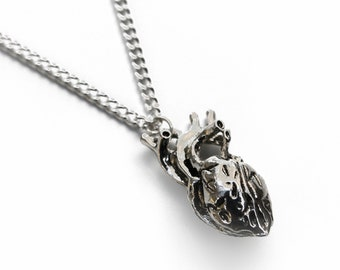 Anatomical 3D Heart Necklace | Human Heart | Love Charm Pendant | Quirky Gift