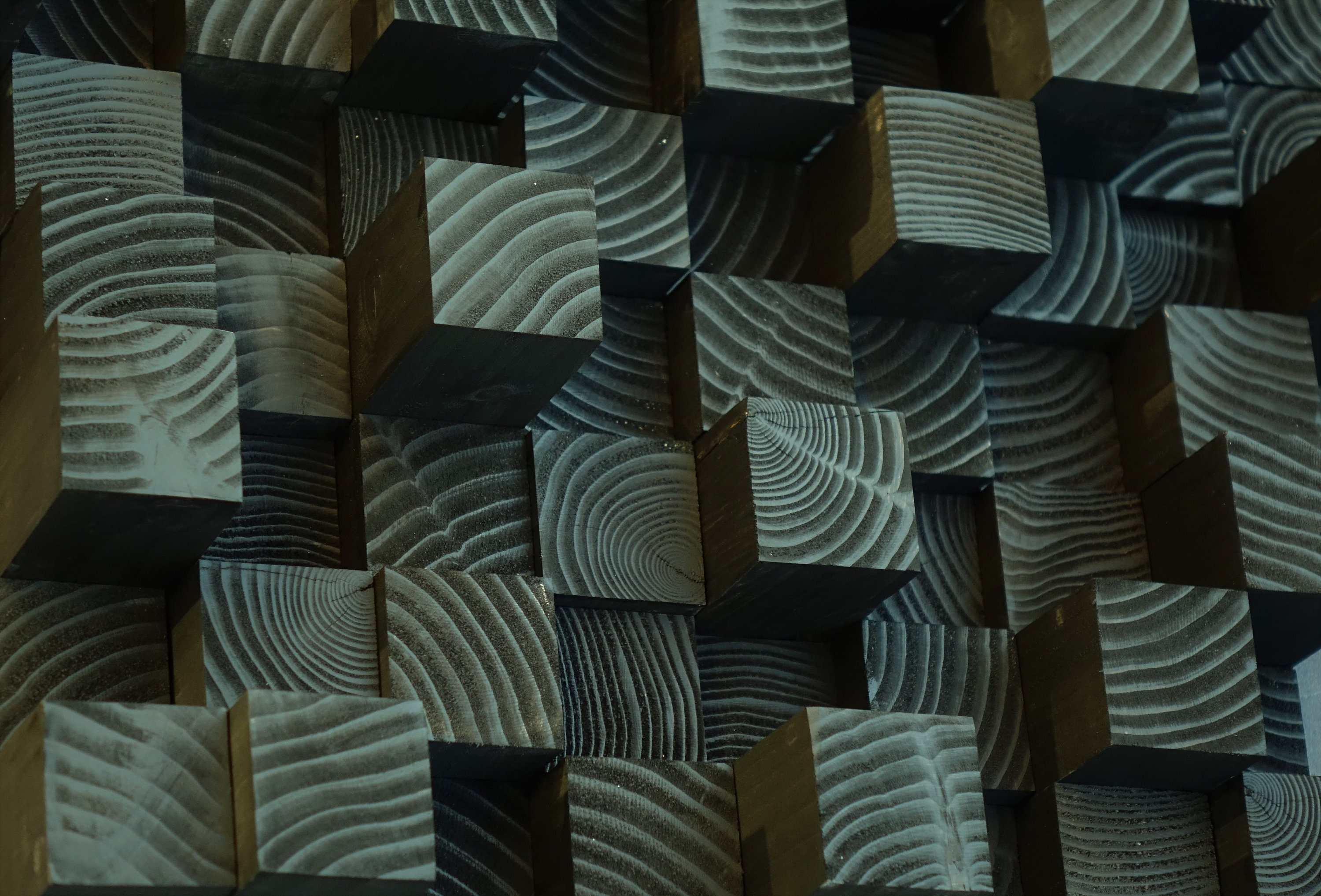 Custom Order Reserved For Kathy 3d Wood Wall Panel Black Wood Sound Diffuser Wooden Hanging Scalpture