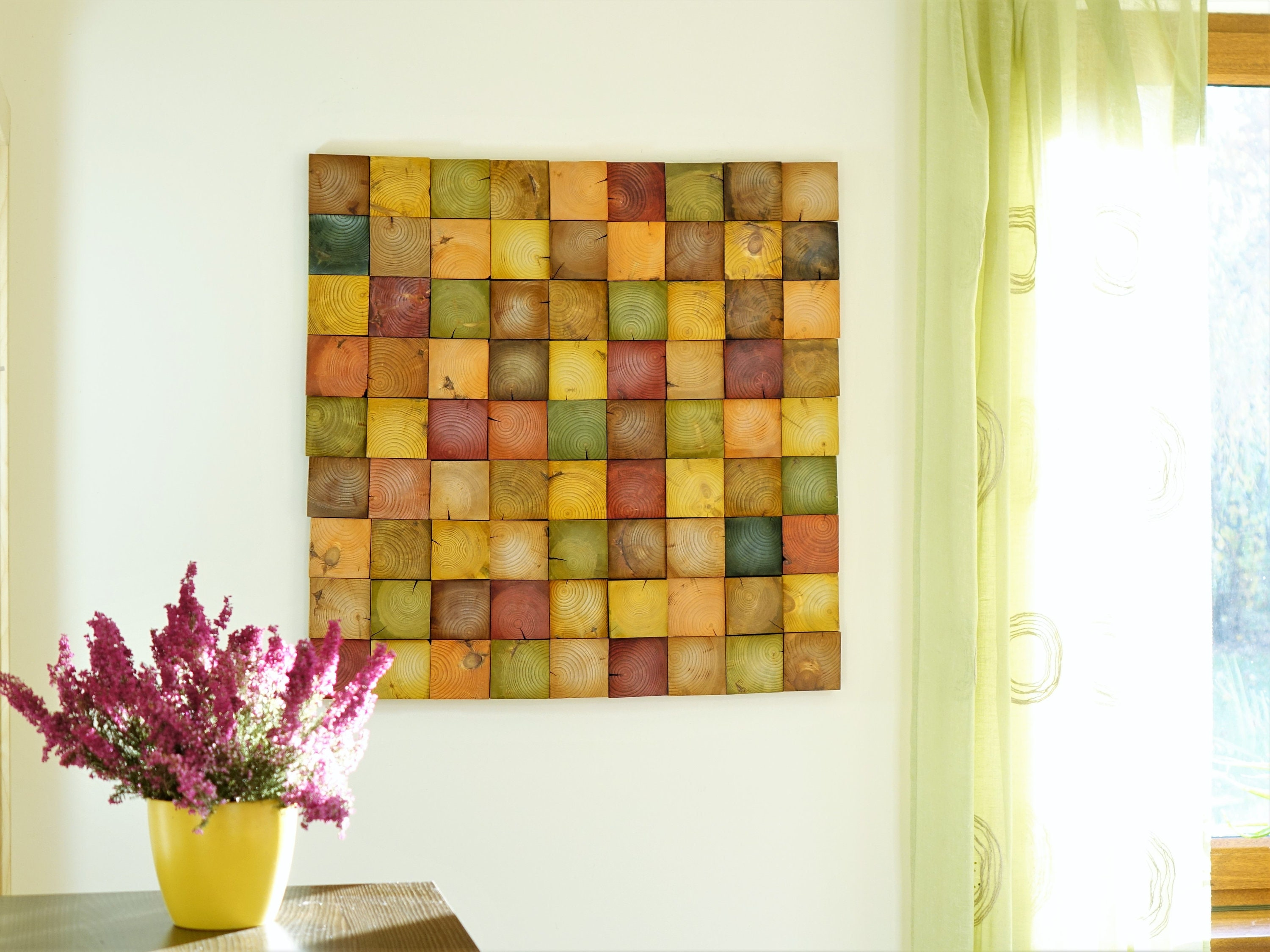 Fall wood wall art, Autumn hanging, fall decor, modern wood art ...