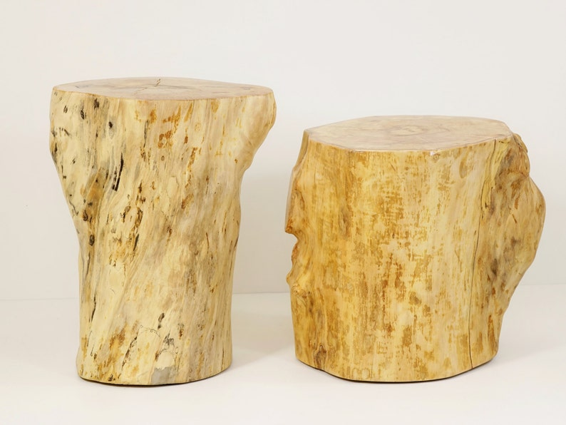 Tronco d albero di clone sgabello di legno ceppo ceppo etsy