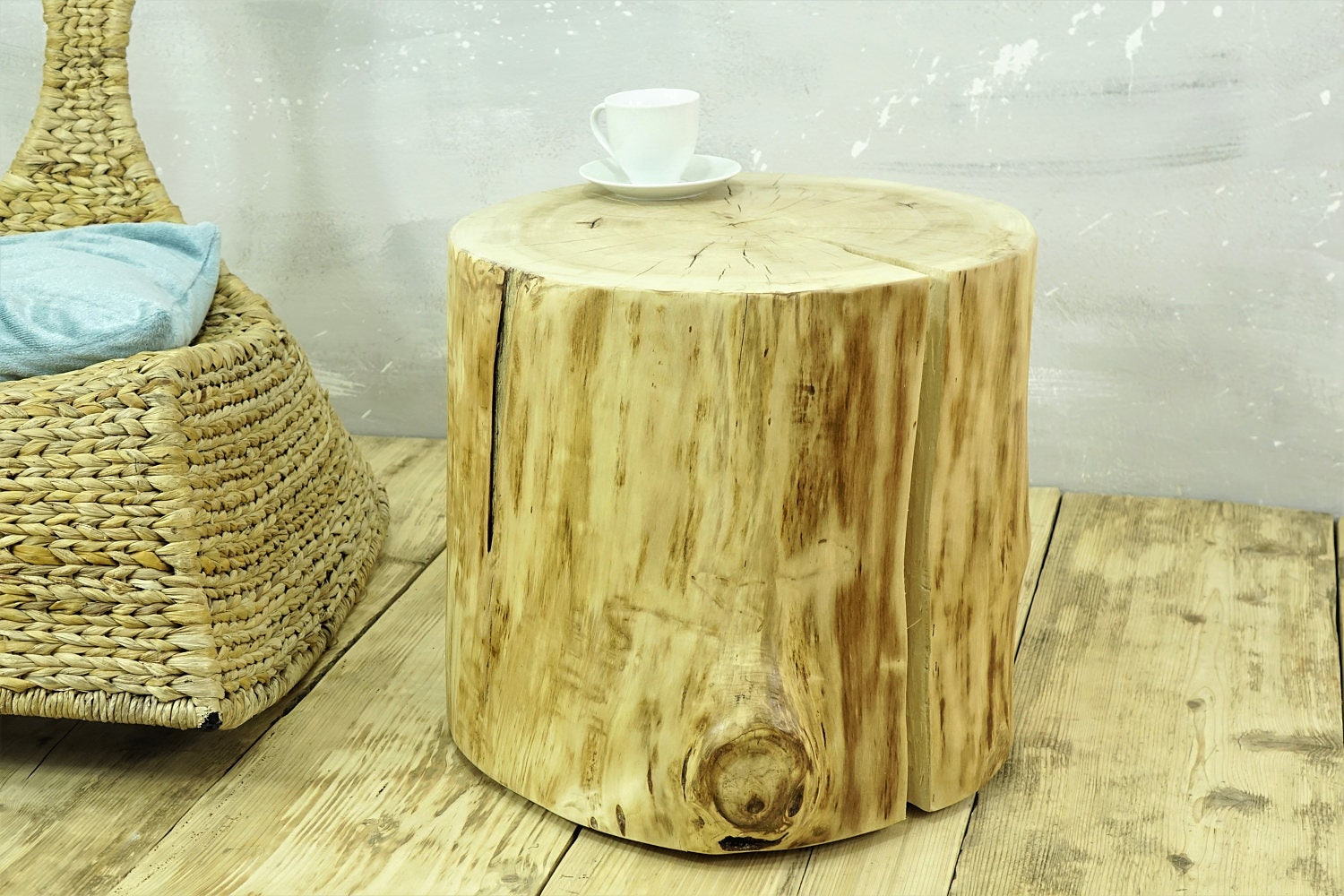 Rustic Tree Stump Side Table On Rolling Casters Side Table Of Aspen Tree  Trunk Stump Coffee Table Baumstamm Tisch Hocker Holz Ceppo Di Legno