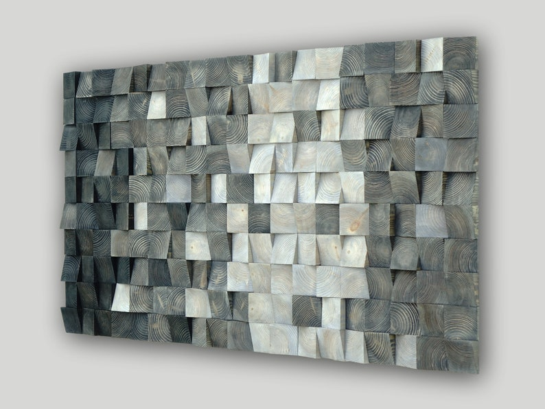 3d Wood Wall Art Mosaic Wall Hanging Wood Block Wall Art