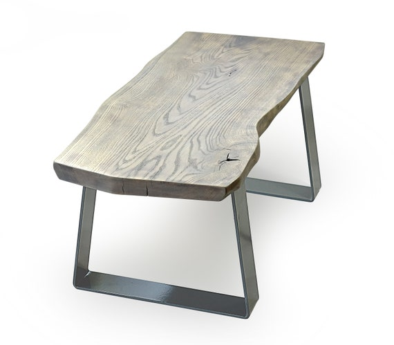 grey live edge coffee table as seen in ELLE Decoration grey coffee table uk steel wood coffee table