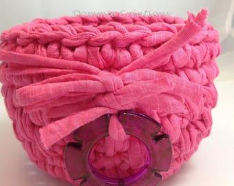 Cotton candy pink, violet basket