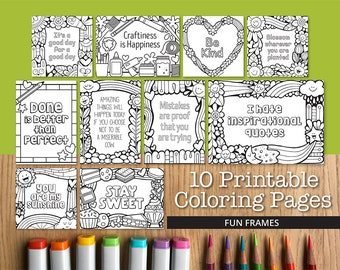 Fun Frames Printable Coloring Pages 10