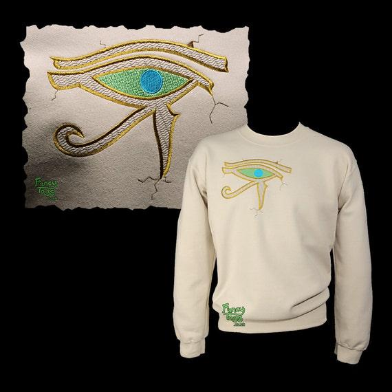 Mens Sweater Ideas Embroidery Birthday Unusual Horus Clothes Sweatshirt Jumper Clothing Sand Grandad Christmas Son Unique UK Eye Dad of Gift YESq88