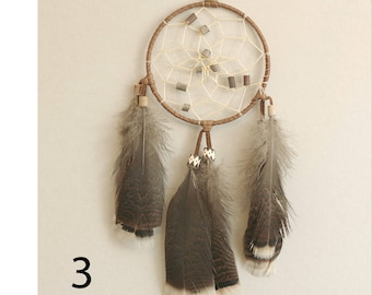 Wall Hanging Dreamcatcher, Dream Catcher with Duck Feathers, Brown Dream Catcher, Traditional Dream Catcher, Beige Dreamcatcher,