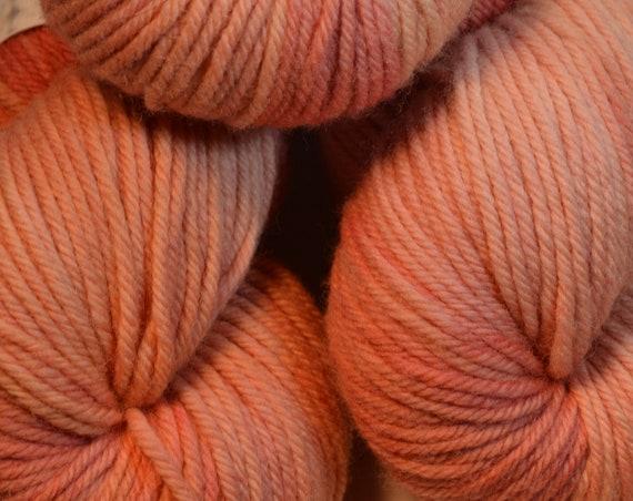 Salmon, 100% Merino Wool Worsted