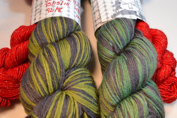 Wicked Witch of the West Self Striping sockset yarn