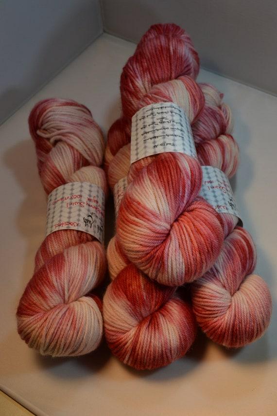 Cranberry Swirl, 100% Merino Wool Worsted
