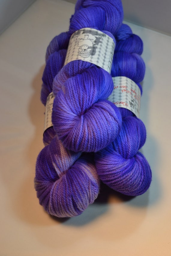 Brilliant Violets, 100% Merino Wool Worsted