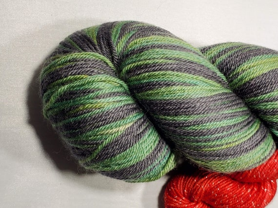 Wicked Witch Self Striping with mini Sock Yarn